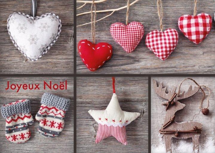 Französische Weihnachtskarte A6 quer