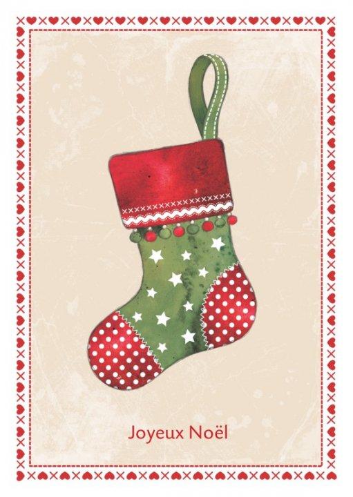 Französische Weihnachtskarte A6