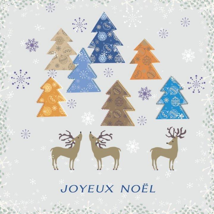 Französische Weihnachtskarte quadratisch