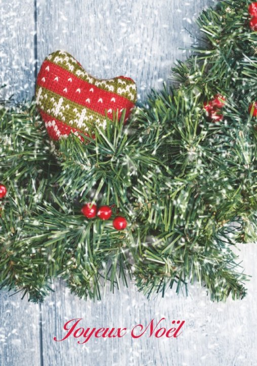 Französische Weihnachtskarte A5